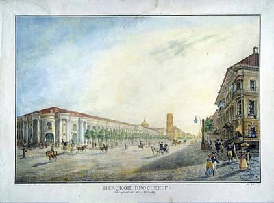 View Nevsky Prospect Art Print by MotionAge Designs