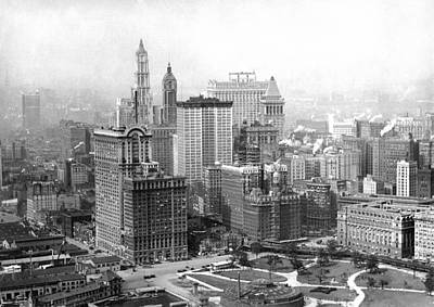 Photograph - View North From Battery Park by Underwood Archives