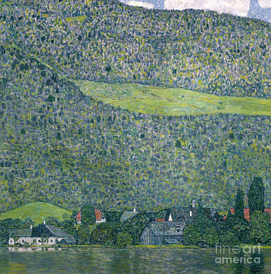 Painting - View Of A Chateau Unterach On Lake Attersee by Gustav Klimt