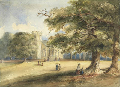Painting - View Of A Churchyard, Southborough, Kent by Anonymous
