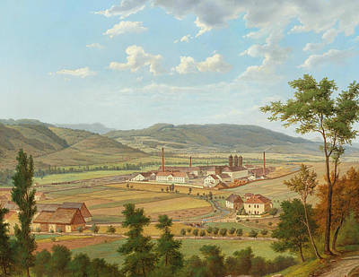 Painting - View Of A Factory In Usti Nad Labem by Ernst Gustav Doerell