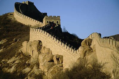 Chinese Architecture Photograph - View Of A Section Of The Great Wall by Michael S. Yamashita