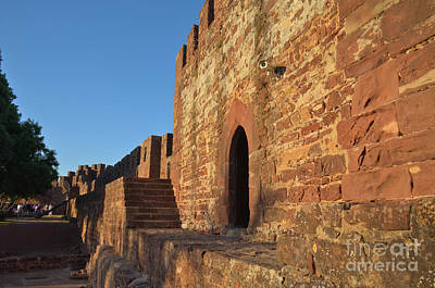 View Of A Tower At The Castle Of Silves Art Print