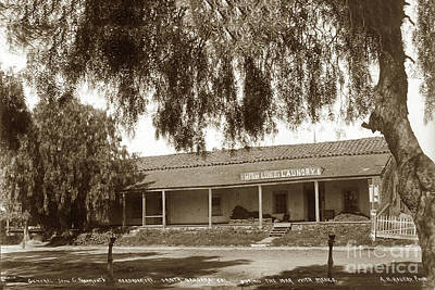 Photograph - View Of Adobe Building  The General John C. Fremont  1898 by California Views Mr Pat Hathaway Archives