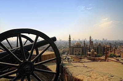 Photograph - View Of Al Rifai Mosque Right And Mosque Madrassa Of Sultan Hassan Left From Cairo Citadel by Mohamed kamal 1984