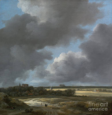 Painting - View Of Alkmaar by Celestial Images