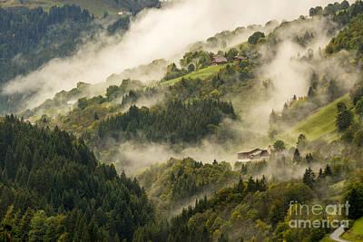 Fir Trees Photograph - View Of Alpine Landscape. France. by Bernard Jaubert