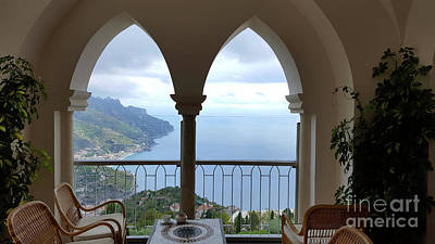 Photograph - View Of Amalfi Coast by Loriannah Hespe