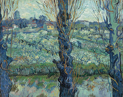 Urban Scenery Painting - View Of Arles, Flowering Orchards by Vincent van Gogh