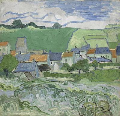 Painting - View Of Auvers Auvers-sur-oise, May - June 1890 Vincent Van Gogh 1853  1890 by Artistic Panda