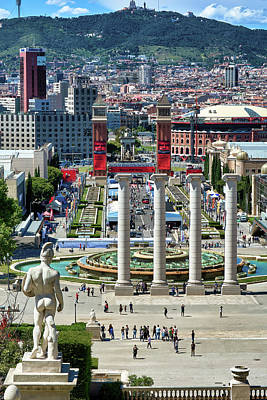 Photograph - View Of Barcelona From Montjuic by Eduardo Jose Accorinti