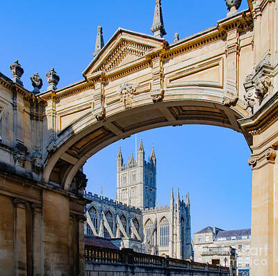 Photograph - View Of Bath Abbey by Colin Rayner