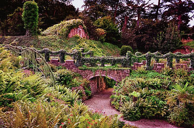 Typographic World Royalty Free Images - View of beautiful gardens in Brodsworth Hall Royalty-Free Image by Robert Chlopas