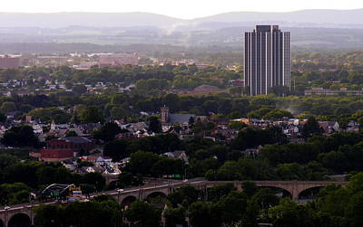 View Of Bethlehem Pa With Martin Tower Photograph By