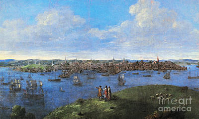 Charles River Photograph - View Of Boston, 1738 by Granger