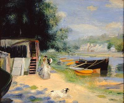 Woman Painting - View Of Bougival by Pierre