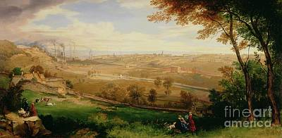 Village Scene Painting - View Of Bradford by William Cowen