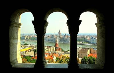 Digital Art - View Of Budapest From Fisherman's Bastion by Max DeBeeson