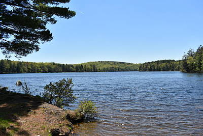 Photograph - View Of Burr Pond 1 by Nina Kindred