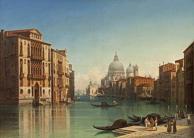 Gustaf Wilhelm Palm Painting - View Of Canal Grande In Venice by Gustaf Wilhelm Palm