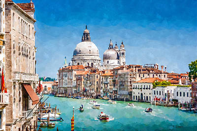 Digital Art - View Of Canal Grande by Kai Saarto