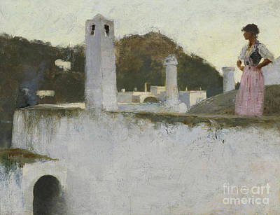 Italy Rooftops Painting - View Of Capri, 1878 by John Singer Sargent