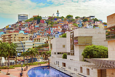 Photograph - View Of Cerro Santa Ana In Guayaquil Ecuador by Marek Poplawski