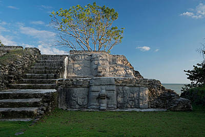 Ancient Civilization Photograph - View Of Cerros Maya Ruins At Cerros by Panoramic Images