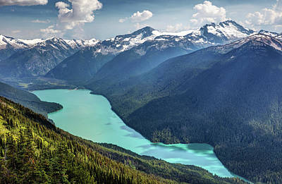 Art Print featuring the photograph View Of Cheakamus Lake From The High Note Trail by Pierre Leclerc Photography