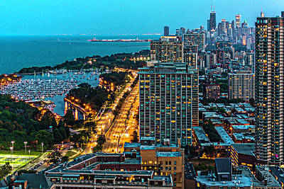 View. Chicago Photograph - View Of Chicago From Park Place Towers Dsc4666 by Raymond Kunst