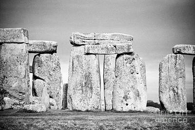 Lintels Photograph - View Of Circle Of Sarsen Stones With Lintel Stones Ad View Of Interior Horseshow Stones Stonehenge W by Joe Fox