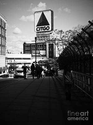View Of Citgo Sign From David Ortiz Bridge, Boston, Massachusetts Art Print