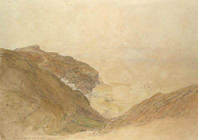 Drawing - View Of Clovelly, Devon by Samuel Palmer