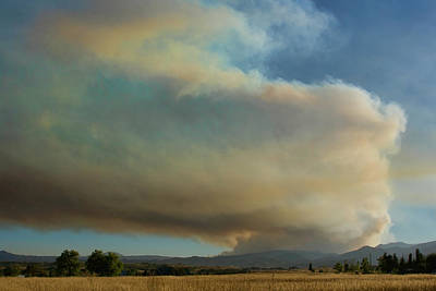 Photograph - View Of Colorado Fourmile Wildfire From The North. by James BO  Insogna