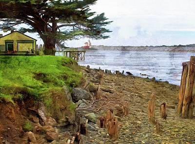 Photograph - View Of Coquille River Lighthouse by Thom Zehrfeld