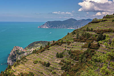 Photograph - View Of Corniglia Cinque Terre Italy by Joan Carroll