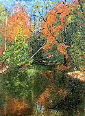 Painting - View Of Creek From Lake Huron by Michael Daniels