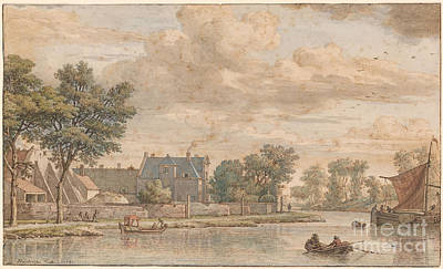 View Of Cromwijck, A Country House On The River Vecht, Province Of Utrecht  Art Print by MotionAge Designs