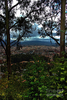 Immaculate Photograph - View Of Cuenca From The Road To Turi by Al Bourassa