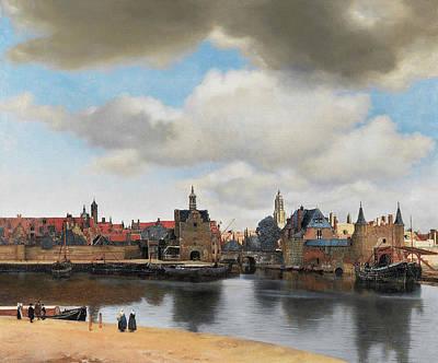 Oil Painting - View Of Delft In Oil Paint, By Johannes Vermeer. by Johannes Vermeer