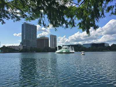 Photograph - View Of Downtown Orlando by Denise Mazzocco