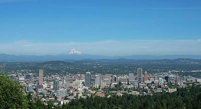 Photograph - View Of Downtown Portland Oregon From Pittock Mansion by Robert Bellomy
