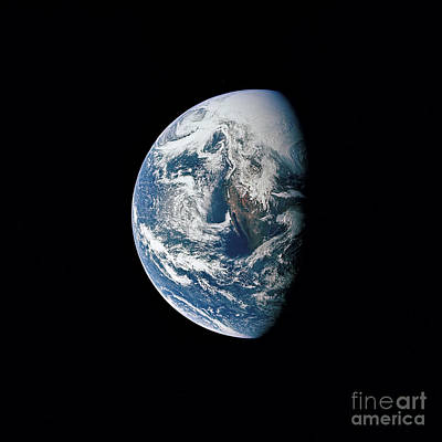 Photograph - View Of Earth Taken From The Apollo 13 by Stocktrek Images