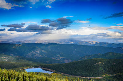 Photograph - View Of Echo Lake From Above by Angelina Vick