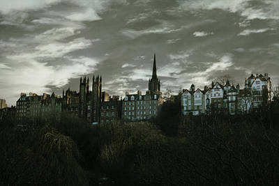 view of Edinburgh II Art Print by Cambion Art