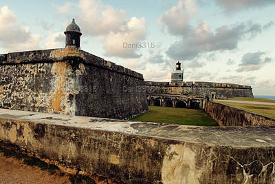 Puerto Rico Photograph - View Of El Morro Fort With Sunset Sky, San Juan, Puerto Rico by Dani Prints and Images