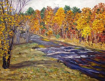 View Of Fall Colors, Westfield River Art Print by Richard Nowak