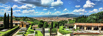 Photograph - View Of Florence From San Miniato Al Monte  0273 by Jack Schultz