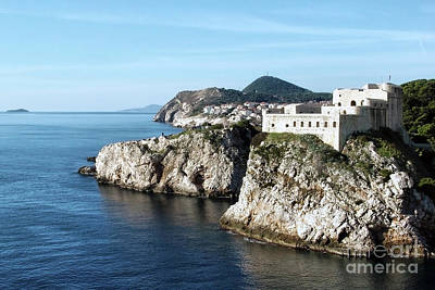Photograph - View Of Fort Lovrijenac Dubrovnik by Jasna Dragun