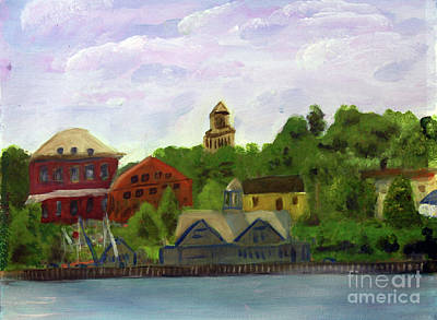 Painting - View Of Gateway Center From North Star by Donna Walsh